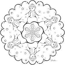 winter mandala coloring pages kids coloring