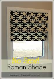 Window Curtain Tension Rod Faux Shade 3 Tension Rods And Some Fabric So Easy And
