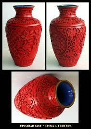 Cinnabar Vases Antiques Art Vintage