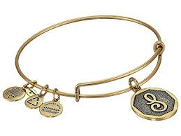 s charm bracelet alex and ani initial s charm bangle at zappos
