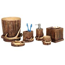 Rustic Bathroom Decor by Rustic Moose U0026 Bear Bathroom Accessories