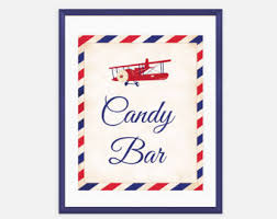 Baby Shower Candy Buffet Sign by Airplane Candy Etsy