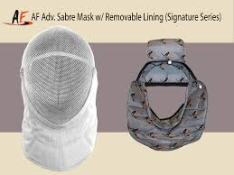 Removable by Af Adv Sabre Mask W Removable Lining Signature Series