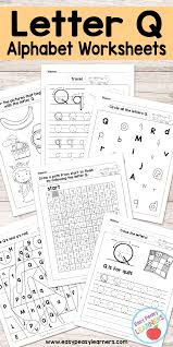letter q worksheets alphabet series easy peasy learners