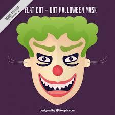 evil clown mask vector free download