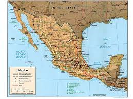Maps De Usa by Usa And Mexico Map Upside Down Usa And Mexico Wall Map Mapscom