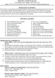 Security Officer Resume Examples And Samples Military Police Officer Resume Sample Professional Security Guard