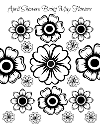 coloring pages kids april coloring pages calendar october free