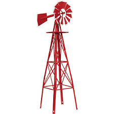 4ft ornamental garden windmill with white tips ebay