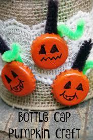 halloween pumpkin craft easy bottle cap pumpkin craft suburbia unwrapped