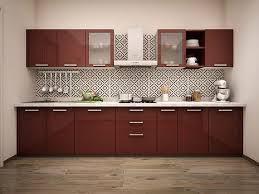 Designer Modular Kitchen - glass cabinet shutter for your modular kitchen designwud