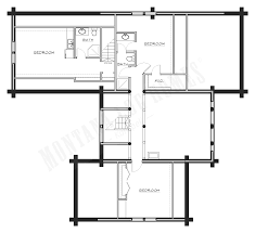 floor plans for log homes mlh 045 montana log homes