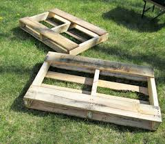 How To Make A Platform Bed Frame With Pallets by Pallet Garden How To Make Raised Wood Pallet Garden Bed