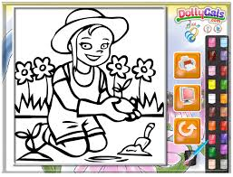 garden coloring pages free kids games kidonlinegame