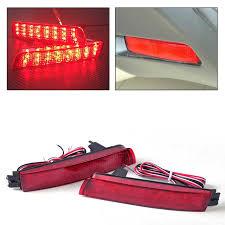 juke aftermarket tail lights beler 2x red lens led bumper reflector rear tail brake light