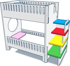 Bunk Bed Screws Free Open Source Bunk Bed With No Screws On Behance
