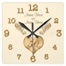 Personalized Anniversary Clock Personalized 50th Anniversary Clock Change Black Beautiful
