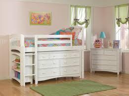 Half Bunk Bed Loft Bed For Saving Space Room Glamorous Bedroom Design