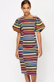 coloured dress sleeve striped dress just 5