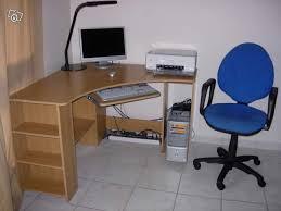 bureau ordinateur angle bureau dangle informatique avec fauteuil occasion avec bureau