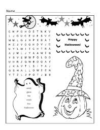 printable word search puzzles for 1st graders halloween word search puzzle 1st grade by kelly connors tpt