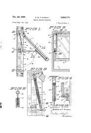 Awning Window Mechanism Patent Us2698173 Awning Window Hardware Google Patents