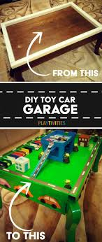 matchbox car play table diy toy car garage table that cost almost nothing to make playtivities