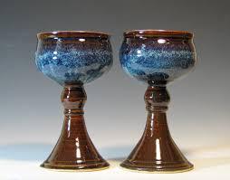 elegant handmade ceramic wine goblets gloss by drbevspottery