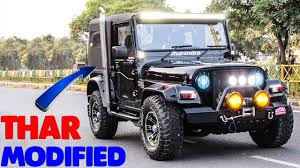 jeep car mahindra top 5 modified mahindra thar best ever customized mahindra