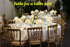 how much tulle for a table skirt linens u0027n u0027curtains