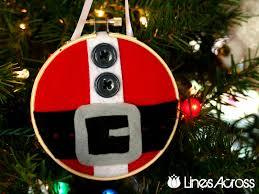 santa s belt embroidery hoop ornament ornament 2