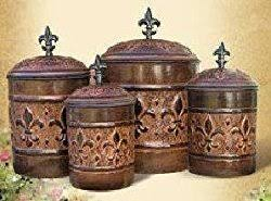 fleur de lis canisters for the kitchen fleur de lis canister set stylish decorative and functional
