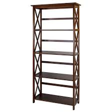 4 Sided Bookshelf Amazon Com Casual Home 324 54 Montego 5 Tier Bookcase Walnut