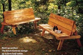 Convertible Picnic Table Bench Picnic Table Plans Convert To Benches Woodwork City Free