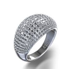 rings with pave images Stone 1 3 4 ctw pave diamond ring in 14k white gold jpg