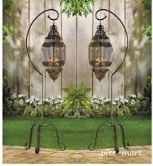 Iron Floor L 10 Hanging Moroccan Lantern Candle Holder Wedding Centerpiece