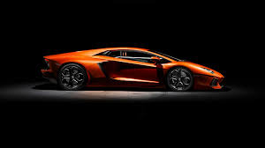 lamborghini engine wallpaper orange lamborghini aventador side view 1920x1080 wallpaper cars