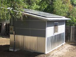 jetson green solar powered shed for a colorado artist