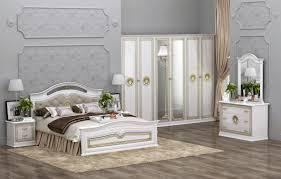 Schlafzimmer Hochglanz Beige Edel Italienisch Schlafzimmer Set Versal Hochglanz Weiß