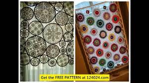 Curtain Patterns Filet Crochet Curtain Patterns Youtube
