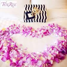 fengrise 500 pieces wedding event gifts silk petals wedding