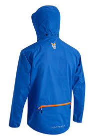 cycling jacket blue altura mayhem waterproof cycling jacket 2014 with removable hood