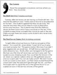 comma worksheetsworksheets