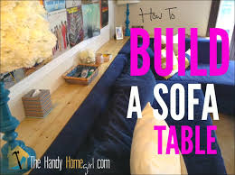 How To Build A Sofa Table by How To Build A Sofa Table Youtube
