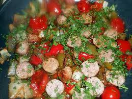 cuisiner saucisse de toulouse recette de fricassée de saucisse de toulouse aux poivrons