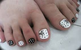61 beautiful white and black nails designs for toe nails picsmine