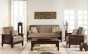 fume microfiber living room w wooden frame u0026 sleeper sofa