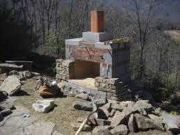 fireplace homemade outdoor fireplace designs home design new