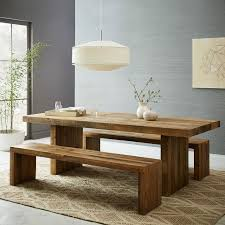 Reclaimed Wood Bar Table Emmerson Reclaimed Wood Expandable Dining Table West Elm