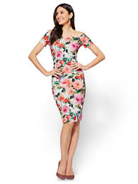 sheath dress ny c cap sleeve sheath dress floral